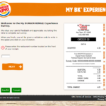 MyBkExperience – Burger King Survey at www.Mybkexperience.com