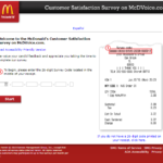 McDonald's Mcdvoice Survey at www.Mcdvoice.com