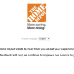 Home Depot Survey $5000 Gift Card at www.Homdepot.com/survey